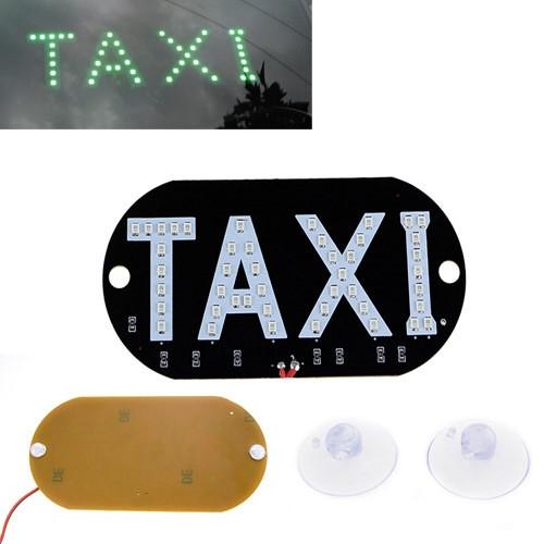 Автомобільне LED табло табличка Таксі TAXI 12В, зелене