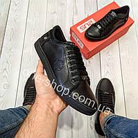 Philipp plein мужские кожаные кеды(туфли,кроссовки)натуральная кожа (armani,ecco)