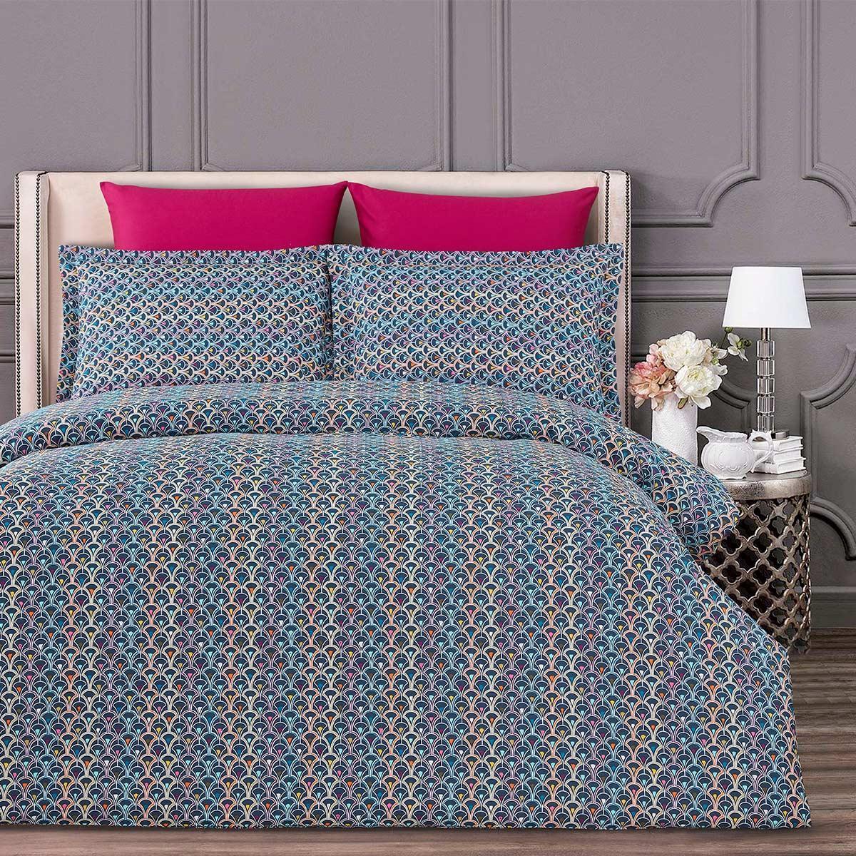 Комплект постельного белья 160х220 см Сатин Luis Alamode Arya AR-TR1005549