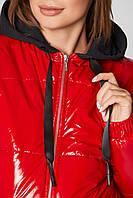 Куртка для беременных демисезонная лаковая Zaragoza Красная 2в1 - S(42 ) M (44 ), L(46) , XL(48), XXL (50)