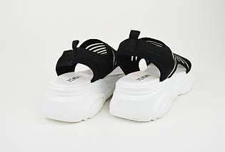 Босоножки на платформе V.I.konty 2210 черные текстиль, фото 2
