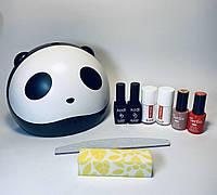 Стартовый набор для дизайна ногтей гель-лаком Tertio с лампой Sun mini6w