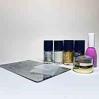Набор для стемпинг дизайна ногтей универсальный №1