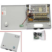 Блок питания в металлическом ящике для камер CCTV, 6-кан 12В 5А 60Вт