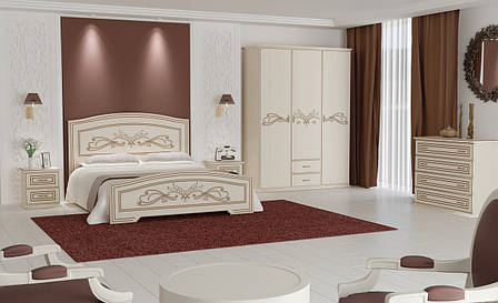Кровать Анабель (1,80 м.) (немо латте+патина капучино), фото 2