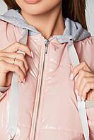 Куртка для беременных демисезонная лаковая Zaragoza Пудра 2в1- S(42 ) M (44 ), L(46) , XL(48), XXL (50), фото 1