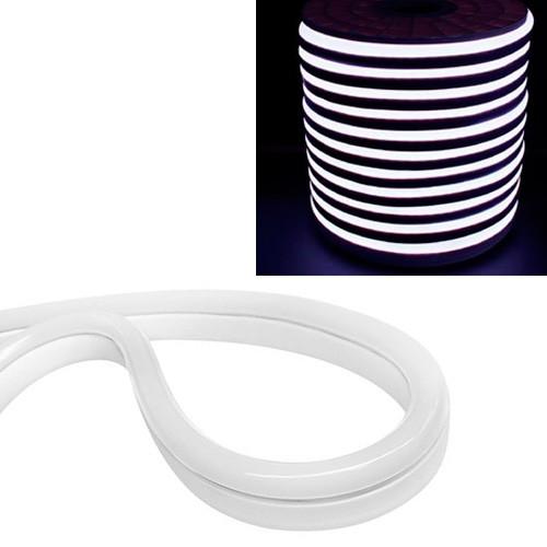 Гибкий светодиодный неон SMD 2835 120/м IP68, 1м белый 12В