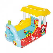 Детский надувной игровой центр Поезд с шариками  BESTWAY 93537