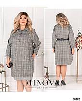 Стильное женское платье-рубашка батал с 50 по 68 размер, фото 3