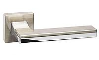 Ручка дверная System  LARISSA 100 RO11 NBM-CR/NBM Матовый Никель / Хром / Матовый Никель, фото 1