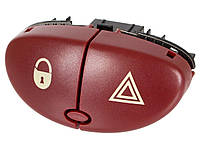 Кнопка аварийного сигнала, аварийки Peugeot 206 CC 2000- с кнопкой блокировки дверей.