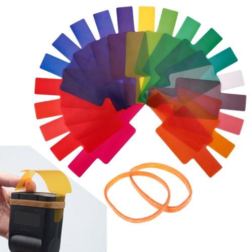 Набор гелевых фильтров для вспышек 20шт 7х6см
