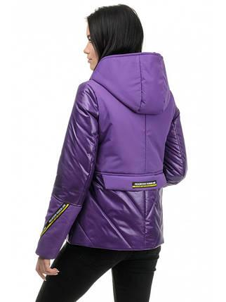 Куртка женская демисезонная (фиолет), фото 2