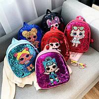 Детский рюкзак LOL с двусторонними пайетками ЛОЛ, фото 1