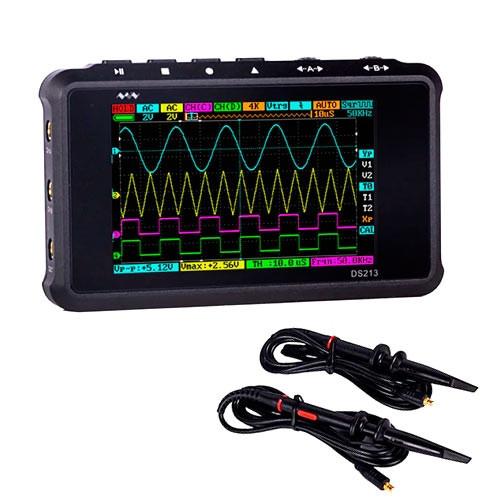 Портативный четырехканальный цифровой осциллограф DS213 DSO213 100Мвыб/с