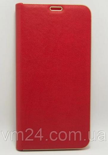 Кожаный чехол-книжка  Xiaomi Redmi 8 / 8A – Красный