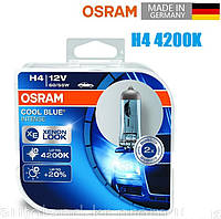 Автомобильные лампы OSRAM 12V H4 55W 4200K +20% Cool Blue INTENSE (64193CBI-BOX)