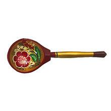 Ложка деревянная с росписью сувенирная Хохлома