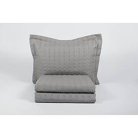 Покрывало с наволочками Karaca Home - Edenia gri 2019-1 серый 240*230