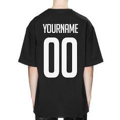 Футболка зі своїм принтом, іменна футболка чорна