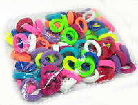 Резинки для волос цветные упаковка 100 шт