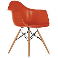 Кресло Тауэр Вуд, ножки дерево бук, пластик, цвет красный