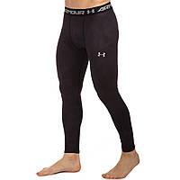 Термобелье мужское нижние длинные штаны (кальсоны) Under Armour CO-8660-BL размер M-3XL рост 165-185cм черный