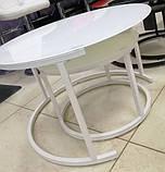 Комплект журнальных столов CS-25 белый стекло Vetro Mebel (бесплатная доставка), фото 4