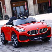 Детский электромобиль M 3985 EBLR-3, BMW Z4, два мотора, Кожаное сиденье, EVA колеса, красный