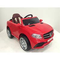 Детский электромобиль Джип Mercedes OOO, Кожаное сиденье, EVA резина, Амортизаторы, дитячий електромобіль красный