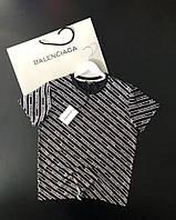 Мужская футболка Balenciaga с надписями (реплика)