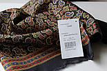 Граф 1418-18, павлопосадский шарф (кашне) шерсть-шелк (атлас) двусторонний мужской с осыпкой, фото 2