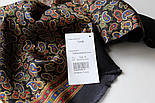 Граф 1418-18, павлопосадский шарф (кашне) шерсть-шелк (атлас) двусторонний мужской с осыпкой, фото 4