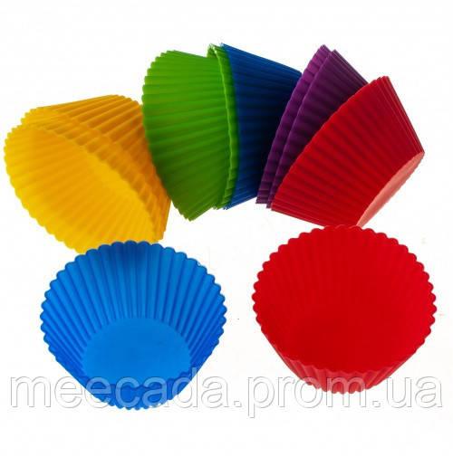 Набор силиконовых форм для выпечки кексов (10шт)