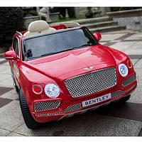 Детский электромобиль Джип JJ 2158 EBLR-3, Bentley, Кожа, EVA резина, Амортизаторы, красный