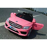 Детский электромобиль Mercedes_XMX815, Кожаное сиденье, EVA-резина, Амортизаторы, дитячий електромобіль розовый
