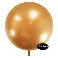"""Шары """"Bubbles"""".Цвет: Золото. Размер:22"""" (55см). Пр-во:Китай"""