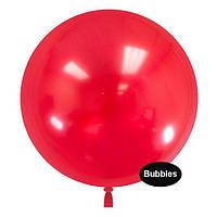 """Шары """"Bubbles"""".Цвет: Красный. Размер:22"""" (55см). Пр-во:Китай"""