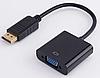 Переходник DisplayPort -> VGA преобразователь DP->VGA/Адаптер, кабель