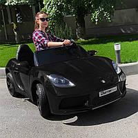 Двухместный детский электромобиль M 4055 ALS-2 (для подростков), Porsche, черный лак