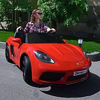 Двухместный детский электромобиль M 4055 ALS-3 (для подростков), Porsche, красный лак