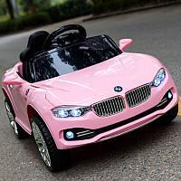 Детский электромобиль M 3175 EBLR-8, BMW, колеса EVA, Кожаное сиденье, розовый