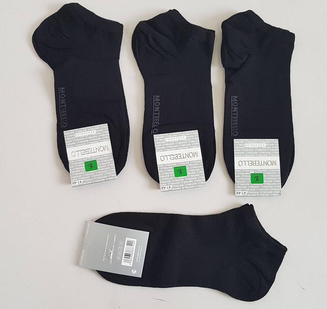 фотография мужские короткие носки черного цвета