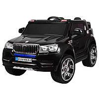 Детский электромобиль Джип BMW_4х4, 2-х местный, кожаное сиденье, EVA-резина, черный