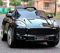 Детский электромобиль Джип M 3178 EBLR-2, Porsche Macan, EVA-колеса, Кожаное сиденье, черный