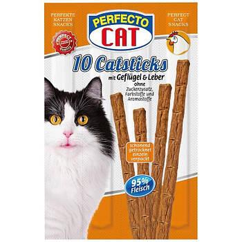 Лакомство для кошек палочки Perfecto CAT курица 10шт х 5г