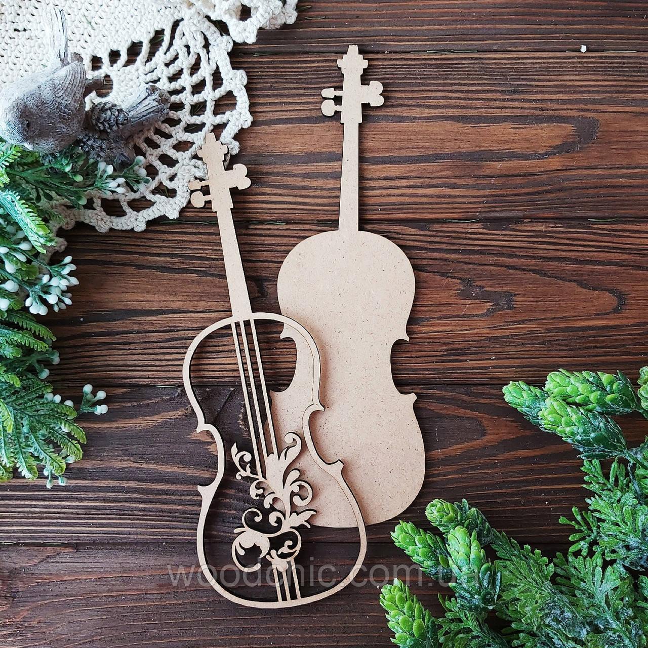 Заготовка  набор Скрипка с завитком