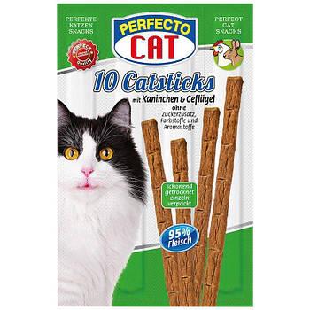 Лакомство для кошек палочки Perfecto CAT курица\кролик 10х5г