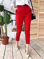 Женские укороченные брюки классические на средней посадке 22bil437