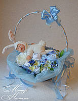 """Подарок новорожденному Букет из вещей """"Зайка мой"""""""